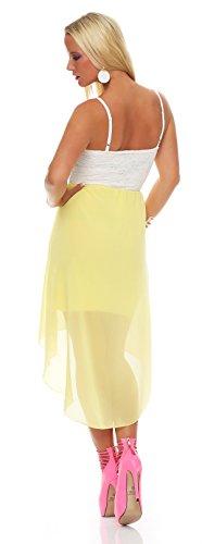 ZARMEXX Fashion - Robe - Taille empire - Sans Manche - Femme Taille Unique Jaune