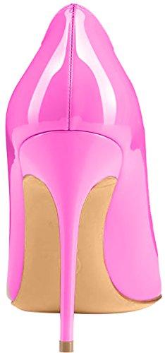 ELEHOT Femme 10cm Taille EU 34-46 Toyis Aiguille 10CM Synthétique Escarpins Rose