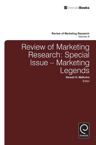 Review of Marketing Research: Special Issue: Marketing Legends PDF Books