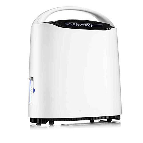 Sauerstoffkonzentrator, Voice-Broadcast, Fernbedienung, Stahlkugel Kleinrad Design,1L/min Sauerstoffausgabe, 93% ± 3% Sauerstoffkonzentration