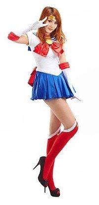 Sunkee Sailor Moon Cosplay Tsukino Usagi Kostüm(Keine Enthalten Socken und Schuhe), Größe XXL ( Alle Größe Sind Wie Beschreibung Gesagt, überprüfen Sie Bitte Die Größentabelle Vor Der Bestellung )