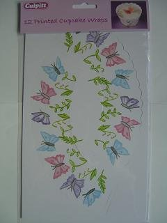Painted Butterfly Cupcake Wrappers Butterfly Cupcake Pan