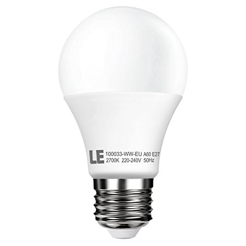 LE Lampada LED 7W E27, Pari alle incandescente da 40W Luce bianco caldo 2700K