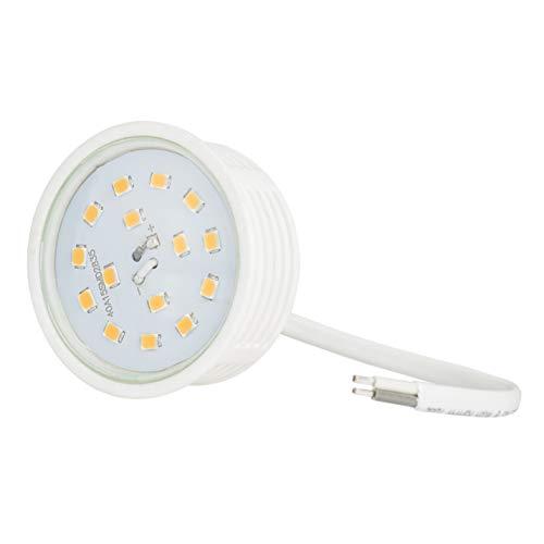 Ultra flaches LED Modul für Einbaustrahler Deckenspot Einbauleuchte 230Volt Leuchtmittel 400Lumen warmweiß 50mm Außendurchmesser 20mm Länge -