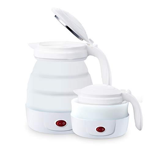 Wenhui 800ML Reise Faltbare Wasserkocher - tragbare Silikon zusammenklappbar Camping Wasserkocher - Anti-trocken - 110-220 V (weiß)