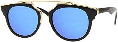 Cheapass Gafas de Sol Transparentes Redondas Gafas Plateadas Espejadas Lentes Modernos de Diseñador Rojas 400UV Variación Mujeres