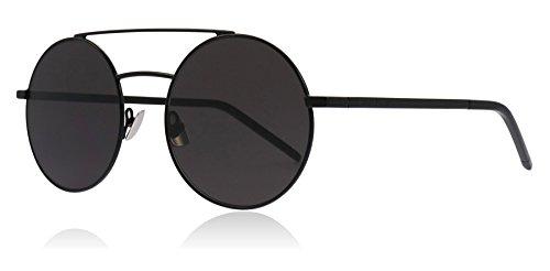 229cb5f249c Saint Laurent SL210 002 Black SL210 Round Sunglasses Lens Category 3 Size  53mm