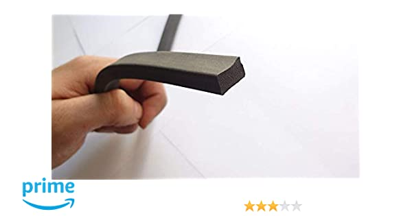 1 cm di altezza x 1,50 cm di larghezza M M Seals A060 Guarnizione in gomma spugna autoadesiva