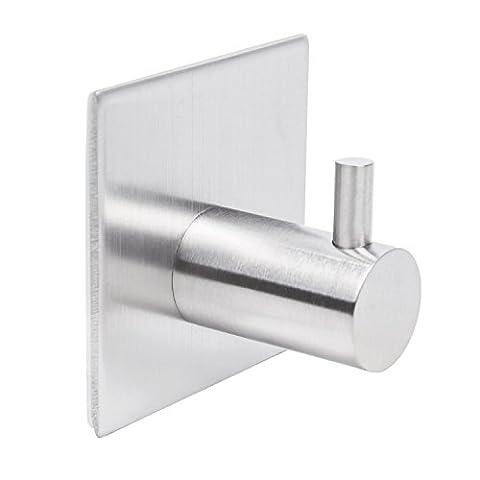 Badezimmer Toilette Self Adhesive Einzel Handtuch und Kleiderhaken , Edelstahl gebürstet