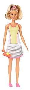 Barbie Quiero Ser Tenista, Muñeca  Jugadora de Tenis, con Raqueta y Pelota de Juguete (Mattel Gjl65)