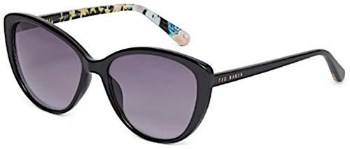 Ted Baker Damen Jazz Sonnenbrille, Schwarz (Black/Grey), 58.0