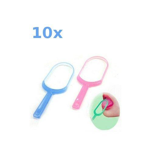 Zungenreiniger sauberer Pinsel entfernen Plaque-Bakterien für frischen Atem (10 Stück)