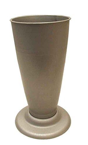 Einstellvase Sigie zink 41cm x 18cm Dekovase Bodenvase Grabvase Blumenvase Grabdeko