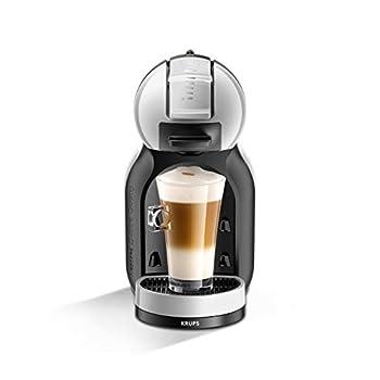 Nescafé Dolce Gusto KP123B41 Mini-Me Automatic Coffee Machine Grey and Black by KRUPS-'Starter Kit' Dolce Gusto, 1500 W, Arctic Grey & Black