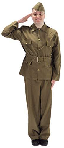 Erwachsene Herren WW2 Britische Armee Militär Soldat 1940s Jahre Bürgerwehr Kostüm Kleid - Britische Militär Kostüm