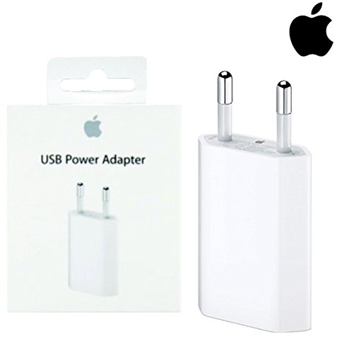 Apple MD813ZMA A1400 Originale - Alimentatore Spina Carica Batteria di rete USB per APPLE iPhone 4 4s 5 5s 5c 6 6s SE 7 7s 8 e 6 Plus 6S Plus 7 Plus 7S plus 8 (IN BLISTER RETAIL PACK)