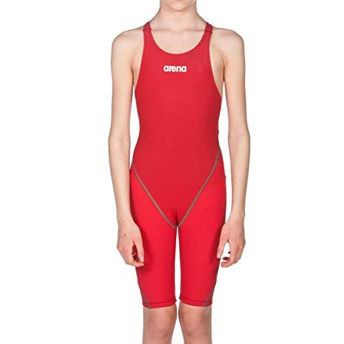arena Mädchen Badeanzug Wettkampfanzug Powerskin ST 2.0 (Perfekte Kompression, Minimierter Wasserwiderstand), Red (45), 152