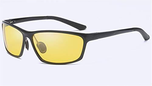 QHCGOOD Sonnenbrille, polarisierte Sport Herren für Ski Driving Golf Running Radfahren superleichten Rahmen Design für Herren und Damen schwarz Black