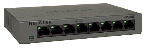 NETGEAR GS308-100PES Gigabit Metallgehäuse Unmanaged Switch (8-Port)
