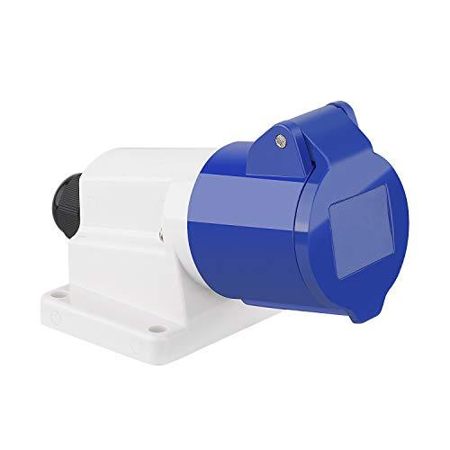 M EGA MEGACUBE CEE Wandsteckdose 3-polig 16A 230V IP44 Geeignet für Baustellen - Blau