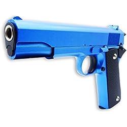 rayline V14-B Airsoft Full Metal (Pression de Ressort Manuelle), Reproduction à l'échelle 1: 1, Longueur: 22cm, Poids: 450g, Calibre: 6mm, Couleur: Bleu - (Moins de 0.5 Joule - à partir de 14 Ans)