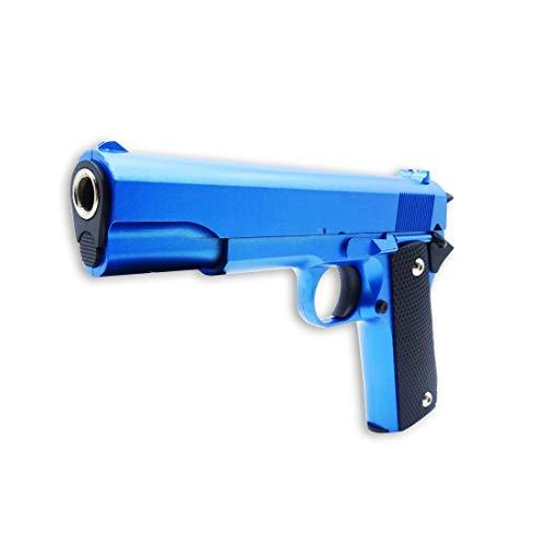 Rayline V14-B Softair/Airsoft/Aire Suave Pistola - Totalmente de Metal (con Muelle), Replica en Escala 1:1, Longitud: 22cm, Peso: 450g, Calibre: 6mm, Color: Azul - (Menos de