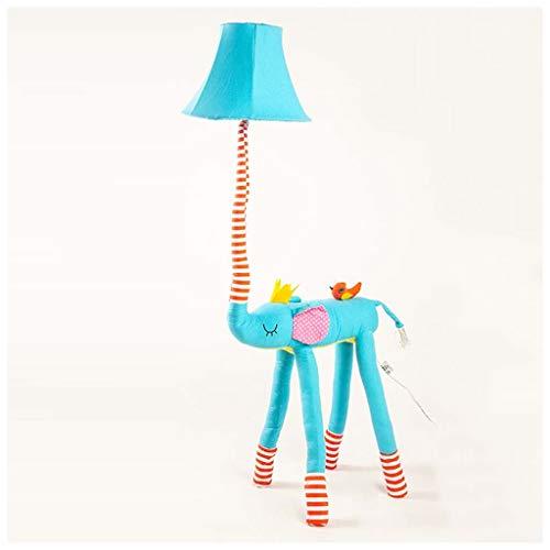 Habitación infantil, elefante azul, dormitorio, lámpara de noche, princesa europea, niña, dibujos animados, animal, lámpara de pie