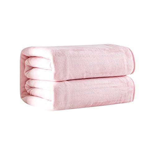 DOLDOA Haushalt Wohnen,Flanell Luxusdecken Leichte und Bequeme Plüschdecken aus Mikrofaser (L, Rosa) -