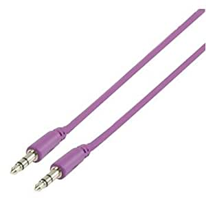 Glaxio® 1m 3.5mm to 3.5mm Jack Audio Cable for Samsung Contour 2 Epic (Purple)