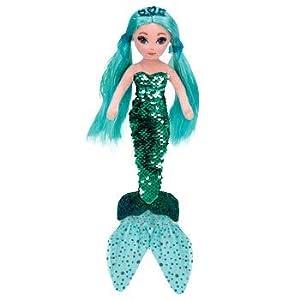 Ty 02103 Waverly Sirena de Lentejuelas, Color Azul Verdoso
