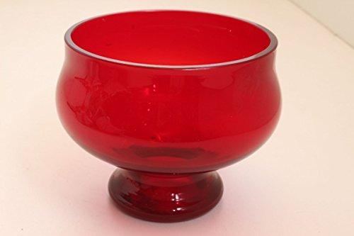 vintage13.de Biedermeier Rubinglas Böhmen ca. 1860 Schale Schüssel Glas Obstschale Antik