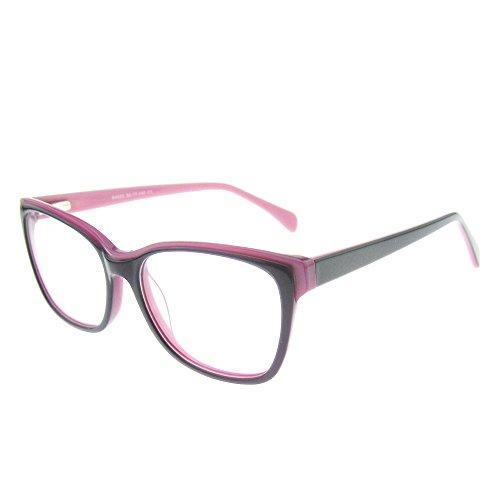 OCCI CHIARI Optische Brillen Rahmen Mode Brillengestell mit Metall Dekoration und Federscharnier für Damen und Herren