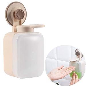 OurLeeme Loción Manual Bomba dispensadora de jabón, champú montado en la Pared Lindo líquido líquido dispensador de Empuje Simple para Cocina baño Ducha