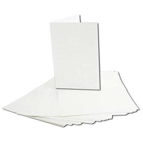 50x faltbares Einlege-Papier für B6 Doppelkarten - hochweiß - 168 x 224 mm (112 x 168 mm gefaltet) - ideal zum Bedrucken mit Tinte und Laser - hochwertig Mattes Papier von Gustav NEUSER®