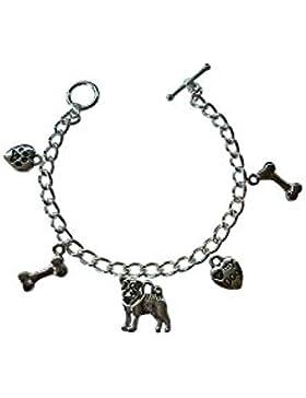 Armband-Charm Mops klein 15 cm