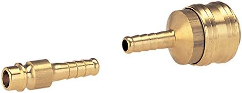 GARDENA Kupplung für Kompressorschlauch: Schneller Druckluftanschluss mit Kupplungsstecker aus Messing, ideal für 6 mm-Schlauch mit Gewebe (7350-20)