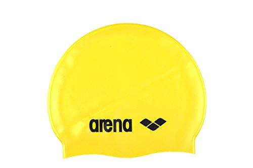 Arena classic silicone cuffia, giallo/nero, taglia unica