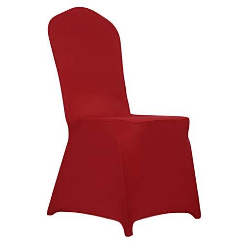 Sumshy coprisedie con schienale 6 pezzi, universale & lavabile estraibile, copertura durevole della sedia di rosso elasticizzato dello spandex per l'hotel, l'arredamento del ristorante, il matrimonio
