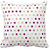 Polka Dots - Red & Green Pillow