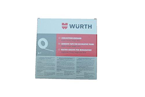 Wrth-Moulures-Ruban-adhsif--Largeur-12-mmLongueur-10-m--ruban-adhsif-double-face-avec-support-acrylique-atkleber-fixer-de-barres-dornement-fonction-emblemen-en-polythylne-Lot-de-4-enjoliveurs-Supports