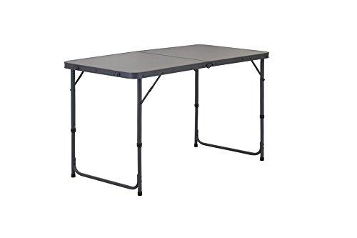 Portail extérieur Unisexe Miami Pliable Table de Camping, Gris, 100 x 60 x 70 cm