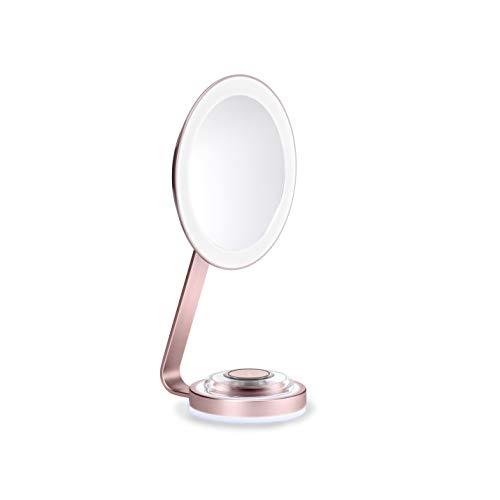 BaByliss 9450E Espejo de Maquillaje Luminoso con Aumento x10 Imantado, Iluminación LED, 3...