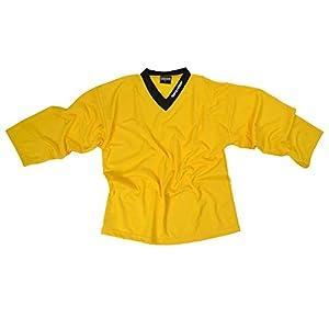 Sherwood SHER-Wood Eishockey Spieler Training Trikot, Größe XXXS, gelb, strapazierfähig, für Bambinis zw. 4-6 Jahren in Hobby und Verein
