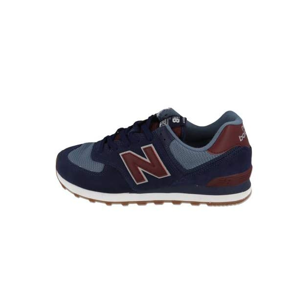 New Balance Men's 574v2 Trainers – 11 UK, Blue Navy Red Spo