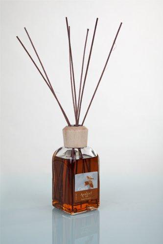 Ambientair Mikado Ambientador para Hogar, Aroma Canela, Cristal, Marrón, 8 x 8...