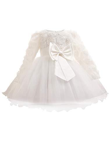 aby Mädchen Kleid langärmliges Mesh Rock Kleider Röcke für Kinder - Brautjungfer Party Prinzessin Prom Hochzeit ()