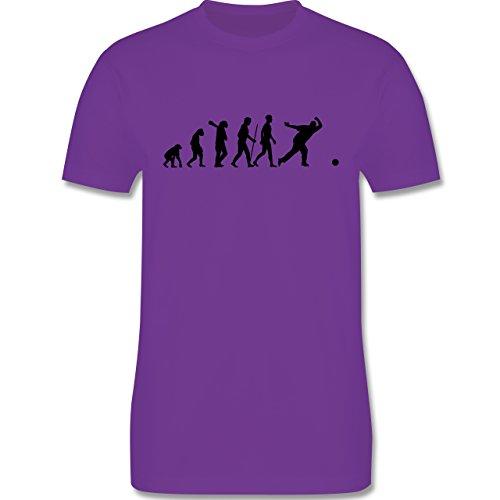 Evolution - Bowling & Kegel Evolution - Herren Premium T-Shirt Lila