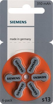 Signia by Siemens Hearing aid Batteries, size 13, 5 packets (30 cells)