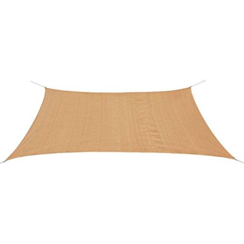 vidaXL Sonnensegel HDPE Rechteckig 2x4m Sonnenschutz Sonnendach Beschattung