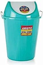 Aristo Swing Lid Garbage Waste Dustbin 32 LTR (Green)